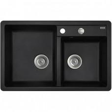Мойка IDDIS Vane G 780.500 двойная для кухни