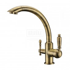 Смеситель для кухни под фильтр KERN 2041 bronze